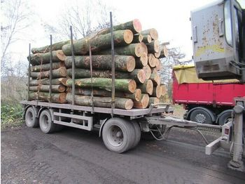 Timber transport DAPA 3 Achs Holzanhänger