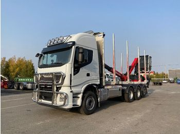 IVECO X-Way AS 340X57 8x4 - timber transport