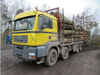 Timber transport MAN 3248 8x4 TGA, Holzkran Epsilon E 165 Z Plus