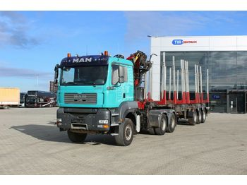 MAN TGA 33.480  6x6 BL,+ AGAMA NPD 38,  PALFINGER  - timber transport