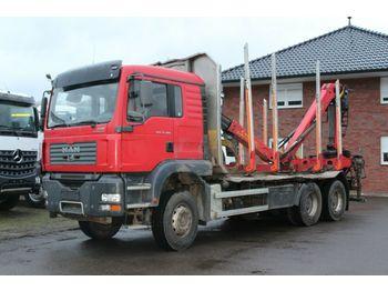 Timber transport MAN TGS 33.480 6X4 Epsilon 110 Z