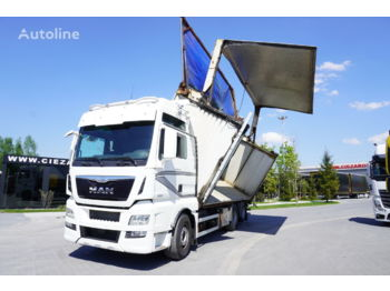 MAN TGX 28.580 XXL , E6 , 6X2 , Self-discharge 40m3 , left tipper , - timber transport