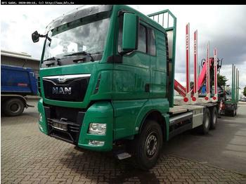 Timber transport MAN TGX 33.480 6x4 BB Kurzholz Kran.