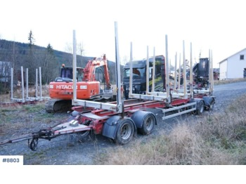 Timber transport MST 4 axle Timber trailer.