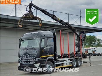 Mercedes-Benz Arocs 2651 L 6X4 German-Truck Retarder Euro 6 Hiab F140ZT 95 - timber transport