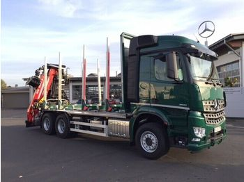 Timber transport Mercedes-Benz Arocs 2651 L 6x4 + Holztransporter