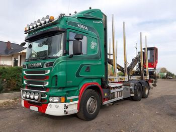 Timber transport SCANIA R730 6x4 Loglift 96S: picture 1