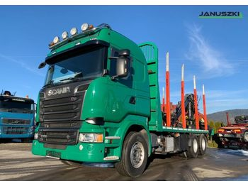 Timber transport Scania Scania R520 Euro 6 V8 6x4 do drewna kłody lasu Loglift Epsilon