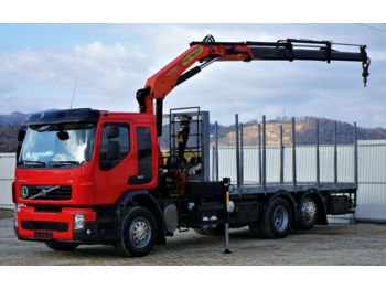 Leasing Volvo FE 300 Pritsche 6,40m+Kran Topzustand! 6x2  - timber transport