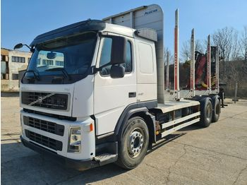 Timber transport Volvo FM440 6x4 Alucar Loglift F 105 Z