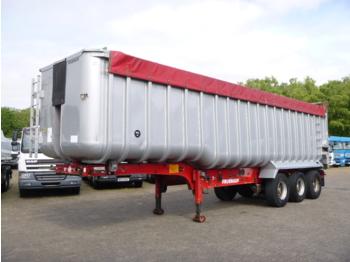 قلابة نصف مقطورة Fruehauf Tipper trailer alu 52 m3 + tarpaulin