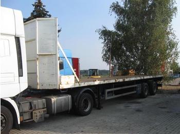 Schwarzmüller Popp 2 Achser Plattform 12,3m Tüv bis 12/09 - gjysmërimorkio me anë të palosshme