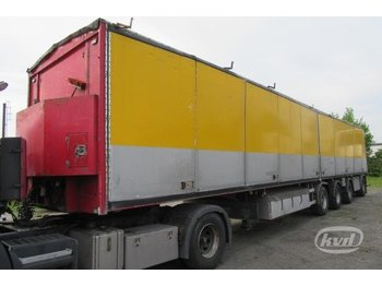 Tyllis 4STL 4-axlar Chip trailer - gjysmërimorkio me perde anësore