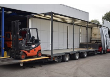ESVE Forklift transport, 9000 kg lift, 2x Steering axel - gjysmërimorkio me plan ngarkimi të ulët
