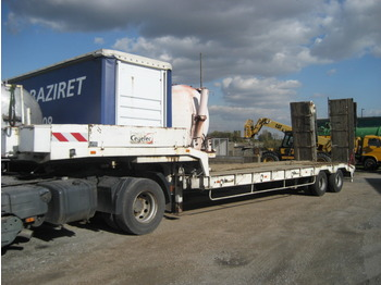 VEREM Tech engine trailer - gjysmërimorkio me plan ngarkimi të ulët