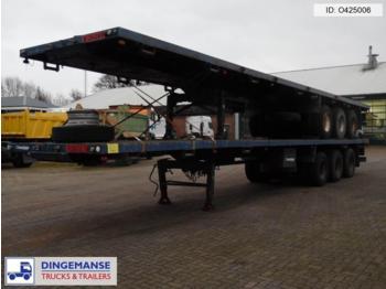 Traylona 3-axle platform trailer 59000KG / Extendable 21.5M - gjysmërimorkio me platformë