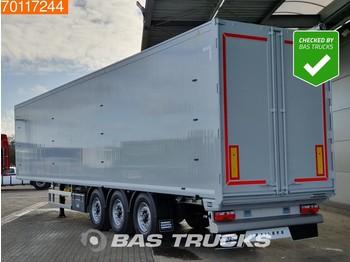 Gjysmërimorkio me vagonetë të mbyllur Knapen K100 92m3 10mm Floor Liftaxle 3 axles Liftachse Walking Floor