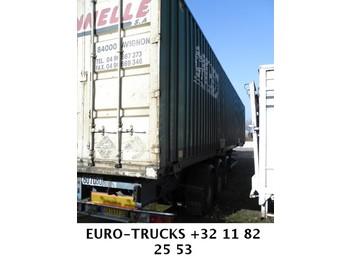 ASCA - WITH CONTAINER 45 feet - transportjer kontejnerësh/ gjysmërimorkio me karroceri të çmontueshme