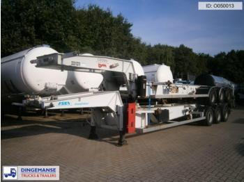 Asca 3-axle tank container trailer 20 ft. ADR/GGVS - transportjer kontejnerësh/ gjysmërimorkio me karroceri të çmontueshme