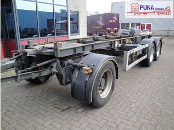 GS Meppel 3-assige autonome aanhangwagen - transportjer kontejnerësh/ gjysmërimorkio me karroceri të çmontueshme