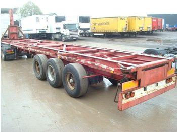 GS Meppel KIPPER - transportjer kontejnerësh/ gjysmërimorkio me karroceri të çmontueshme