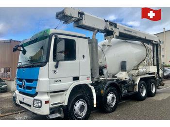 Mercedes-Benz Actros 3241 8x4 mit Förderband  - mešalec betona