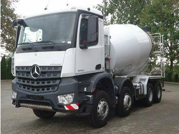 Бетонска мешалка Mercedes-Benz AROCS 3240 8x4 Euro 6 Betonmischer Liebherr 9m3