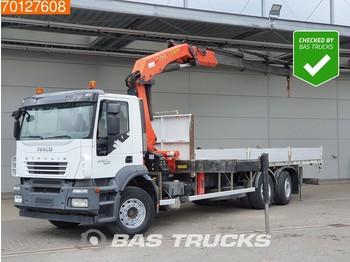 Iveco Stralis AD260S36 6X2 Kran Crane Steering-Axle Palfinger PK 21502 - бортовой грузовик