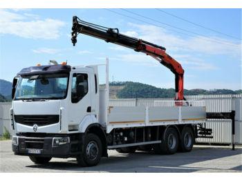 Бортовой грузовик Renault Premium 410 DXI Pritsche 7,20m+Kran *6x4*