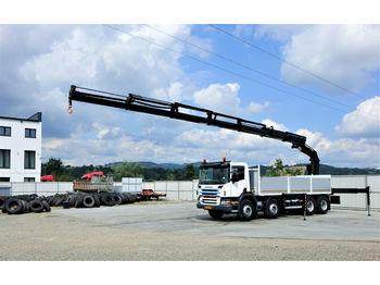 Scania P420 Pritsche 6,40m +Kran/FUNK *8x4*Topzustand!  - бортовой грузовик