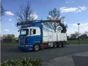 Scania R620 V8 8X4  RETARDER EURO 4  HMF1820 EXTRA FUNT  - бортовой грузовик