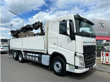 Volvo FH 460 Baustoffkran Hiab 166K EURO-6  - бортовой грузовик