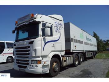 Scania R560 - грузовик для перевозки животных