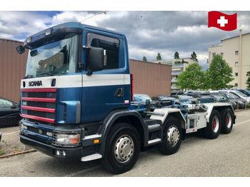 Scania R124 CB  8x4  - крюковой мультилифт