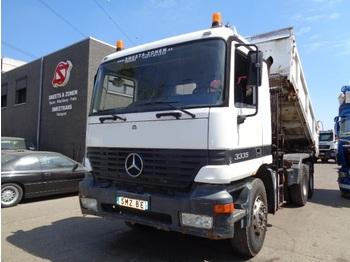 Самосвал Mercedes-Benz Actros 3335 manual/ Hmf K 2 tipper crane/benne-grue