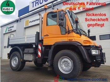 Самосвал Mercedes-Benz Unimog U 400 4x4 3 S. Wechsellenkung Scheckheft