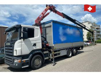 Scania R420 LB 6x2  - тентованный грузовик