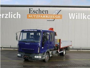 Бордови камион Iveco 80 E 17, 4x2 Doka, Palfinger PK 6500 Kran