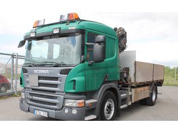 Scania kranbil P230DB4X2HNZ  - dropside kamion (sa spustivim stranicama)