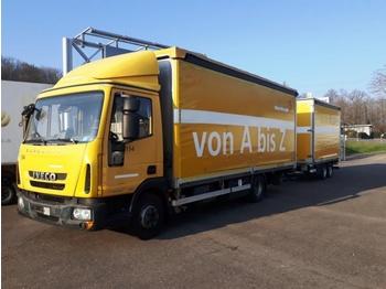 Kamion sa ceradom Iveco Eurocargo ML75E18P + Anhänger