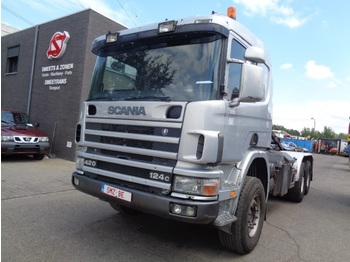 Kamion sa hidrauličnom kukom Scania 124 420 Lames Big axle