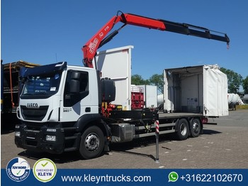 Iveco AS260S36 STRALIS fassi f175a, remote, - камион со церада