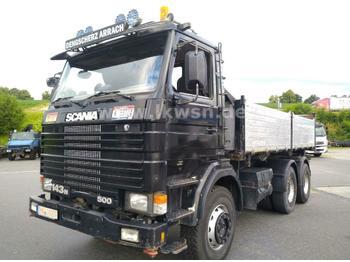 Scania 143H420 6x4 V8 3-Side Tipper BigAxle STEEL/STEEL  - kiper
