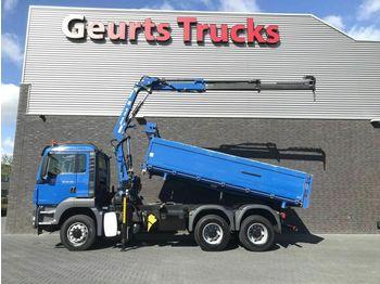 MAN TGS 26 400 6X6 KIPPER+KRAAN/KRAN/CRANE/GRUA  - самосвал камион