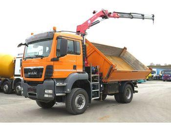 MAN TG-S 18.480 4x4 2-Achs Allradkipper Kran Funk, 3  - самосвал камион