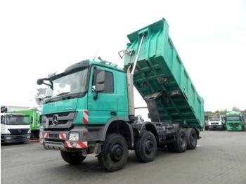 Самосвал камион Mercedes-Benz Actros 4141 8x8 4 Achs Muldenkipper Meiller 17m³