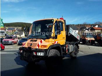Unimog U 400, Vario, Automatik, Zapfwelle, Ketten  - самосвал камион