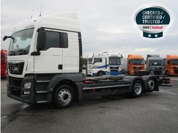 MAN TGX 26.440 6X2-2 LL,Euro6,XLX,Funk,Navi,Hubrahmen - транспортер на контејнер/ камион со променливо тело