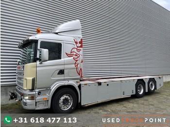 Scania R 144L-460 / 6X2 / Manual / Euro 2 / V8 / Airco / NL-Truck - транспортер на контејнер/ камион со променливо тело