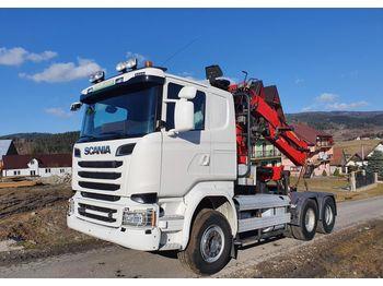 Scania R580 EURO 6 6x4 do drewna dłużycy lasu Epsilon Loglift Doll Huttner - камион влекач